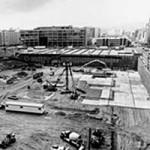 Photo of Yerba Buena Gardens during construction