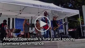 Click to watch video of Alligator Spacewalk's funky and spacey premier performance