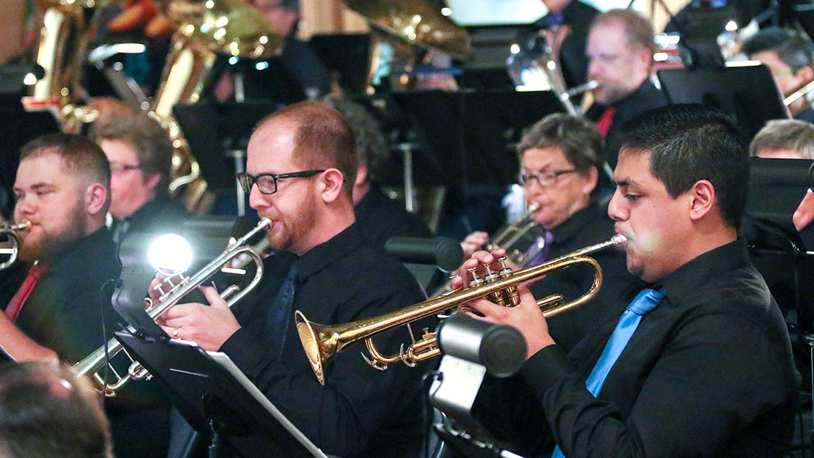 Photo of trumpet players in the San Francisco Lesbian/Gay Freedom Band