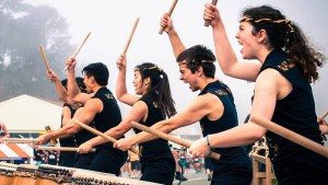 Photo of Cal Raijin Taiko drummers