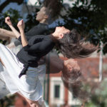 Motion photo of a woman dancing for ChoreoFest by Hillary Goidell