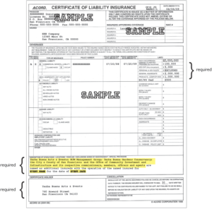 Image of sample insurance document