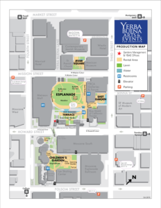 Production map for Yerba Buena Gardens